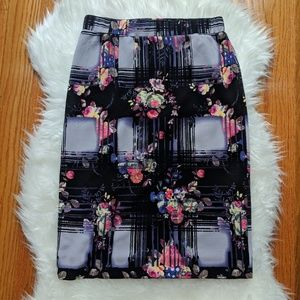 NWT Pixley Floral Stretch Pencil Skirt